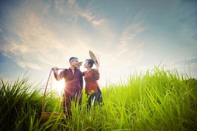 Thơ tình yêu trên cánh đồng quê