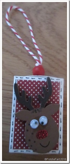 Reindeer Matchbox Christmas Tree Decoration