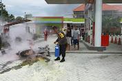 Sepeda Motor Pegawai SPBU Ammesangeng Terbakar Usai Isi Bensin