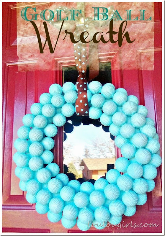 golf ball wreath3