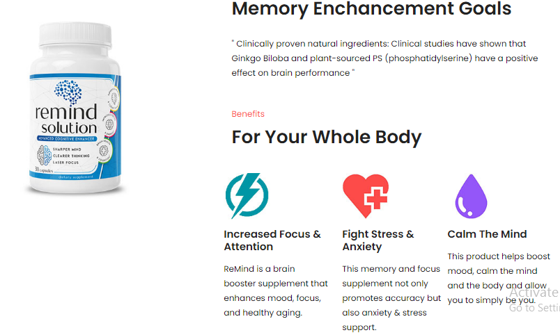 ReMind Solution Review: Advanced Brain Booster Pills in AU, AT, BE, CA, DK,  FI, FR, DE, IE, IT, LU, NL, NZ, NO, SG, ES, SE, CH, UK, US