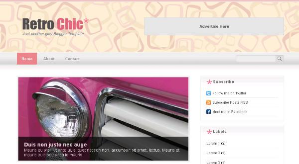 Retro Chic Blogger Template