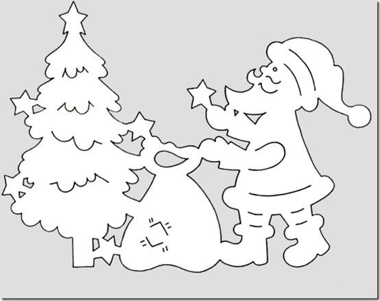 patrones para recortar ventanas navidad  (18)
