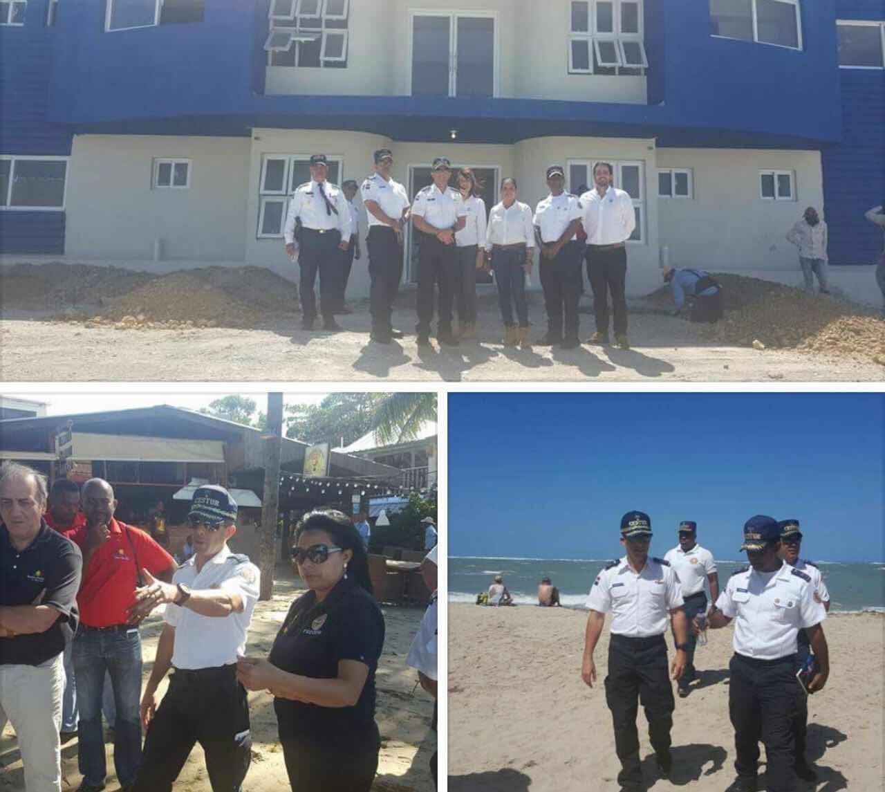 Director General del CESTUR supervisa playas afectadas por el fuerte oleaje en la provincia de Puerto Plata.
