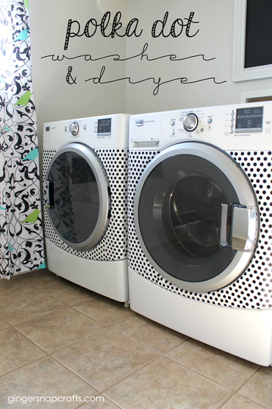 Polka Dot Washer & Dryer at GingerSnapCrafts.com #happycrafters #ad_thumb
