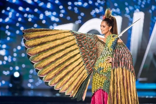 Connie Jimenez, Miss Ecuador 2016 debuts her National Costume on stage at the Mall of Asia Arena on Thursday, January 26, 2017.  The contestants have been touring, filming, rehearsing and preparing to compete for the Miss Universe crown in the Philippines.  Tune in to the FOX telecast at 7:00 PM ET live/PT tape-delayed on Sunday, January 29, live from the Philippines to see who will become Miss Universe. HO/The Miss Universe Organization