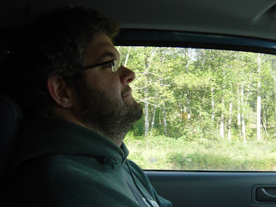 Paul driving down to the campsite. Photo taken on October 10, 2008.