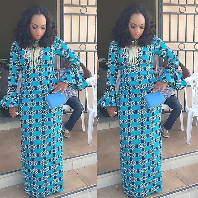 50 Of The Latest Long Ankara Dress Styles In 2017