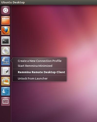 Ubuntu 12.04 Remmina QuickList