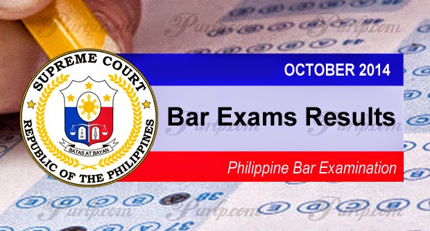 October 2014 Philippine Bar Exam Results List of Passers