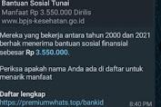 Waspadalah, Pesan Hoax Bansos BPJS Beredar di Group WhatsApp