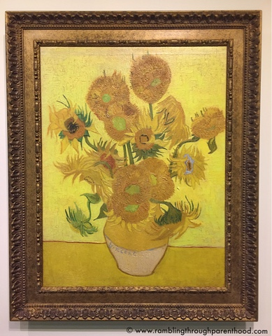 A replica of The Sunflowers by Vincent Van Gogh