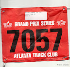 My race bib for the Peachtree City 5K.