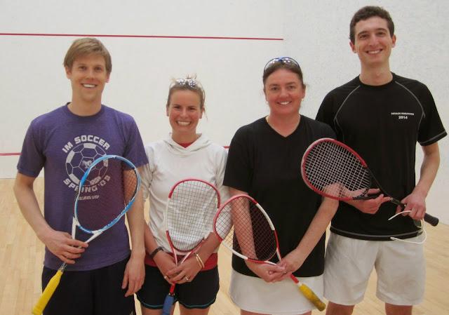 2014 State Mixed Doubles Finalists - Max Montgelas & Breck Haynes; Champions - Sharon Bradey & John Roberts