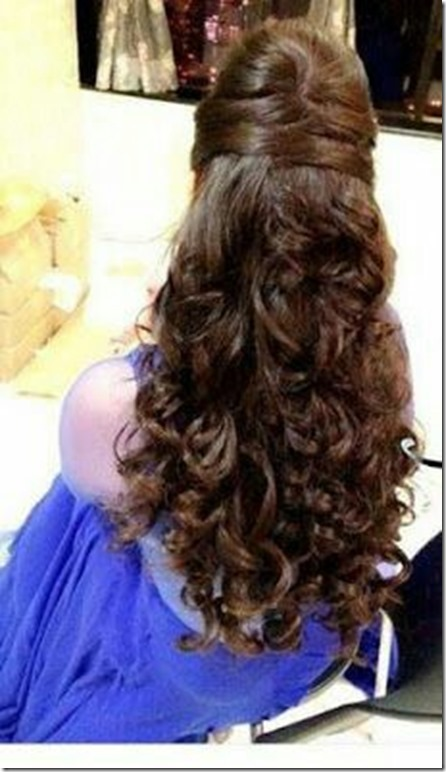 47 Criss Cross Half Down Curly Hair Indian Wedding Hairstyles