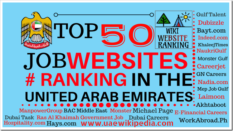 Top 50 Job Websites Ranking in Dubai, UAE & The Middle East