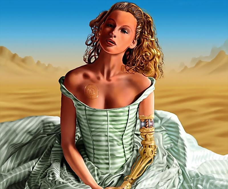 Cyber Girl In Desert, Fiction 2