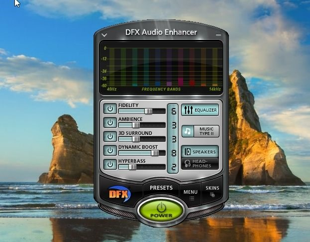 dfx audio enhancer tool windows