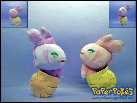 Pokemon Alomomola Paper Model
