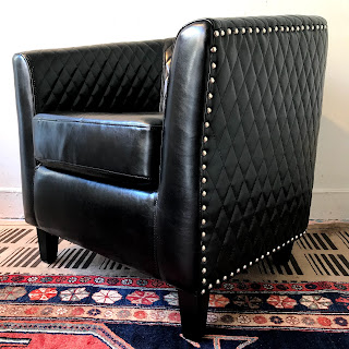 Quilted Barrel-Back Armchair
