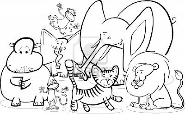 Zoo Animal Coloring Pages Icolorings