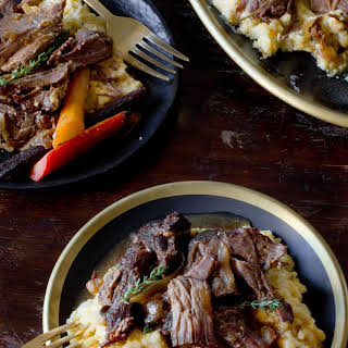Slow Cooker Maple and Dijon Pot Roast.