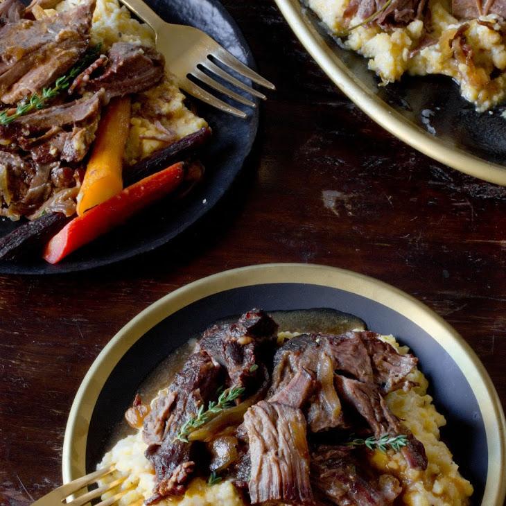Slow Cooker Maple and Dijon Pot Roast