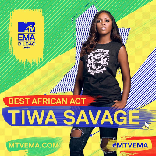 Tiwa Savage: Winner Of The Best African Act 2018 1
