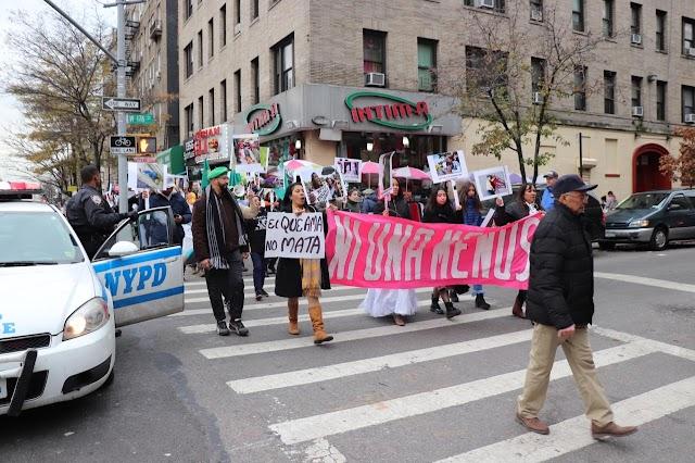 Dominicanos residentes en Nueva York, Protestan en contra de los feminicidios en República Dominicana
