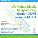 Workshop Mobile Programming dengan J2ME bersama Nokia 2011