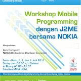 Workshop Mobile Programming dengan J2ME bersama Nokia 2011