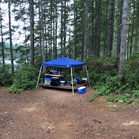 the hardly used camp kitchen
