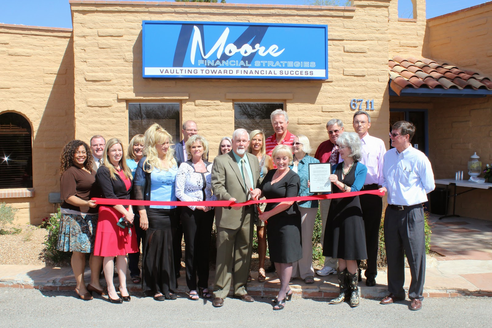 Moore Financial Strategies has moved to a new location.  Conveniently located at the entrance to Tucson Country Club Estates, clients have easy access to the building.  Also, celebrating over 23 years in business in Tucson, Susan Moore Vault and her husband Frank Vault welcome new clients to come in to discuss retirement planning.