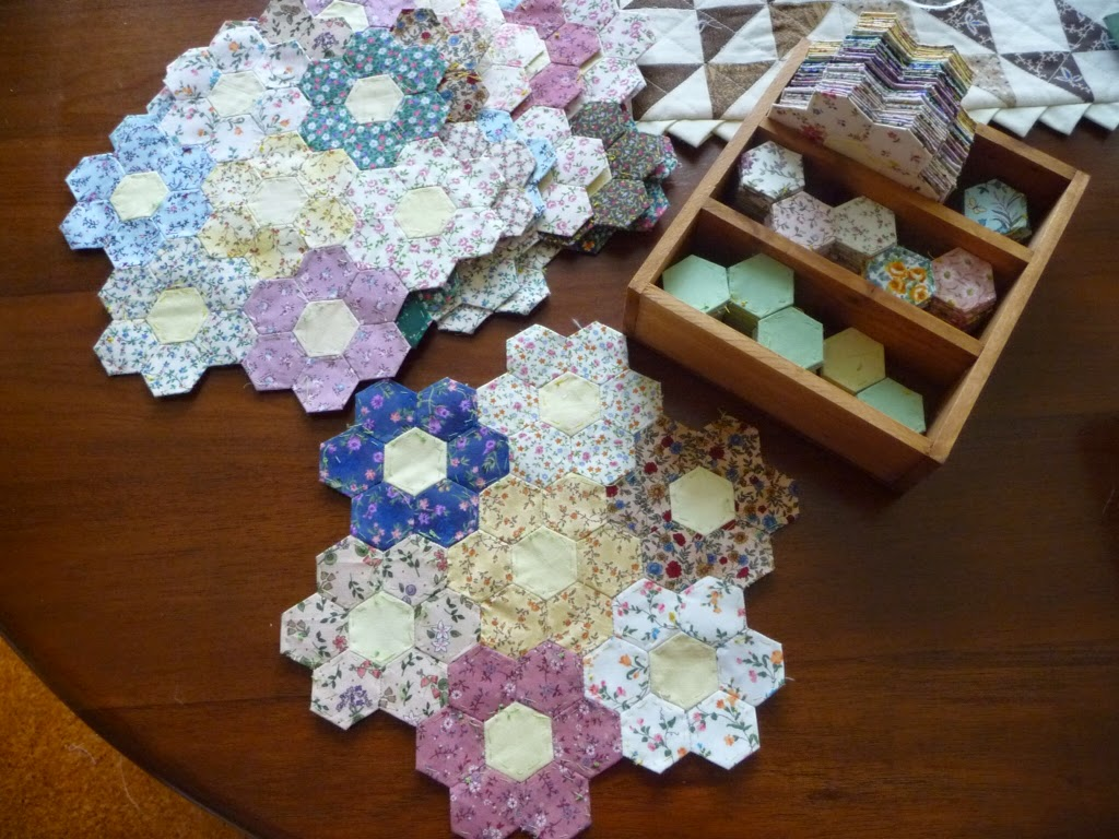 The Witch On The Barn English Paper Pieced Hexagon Flowers