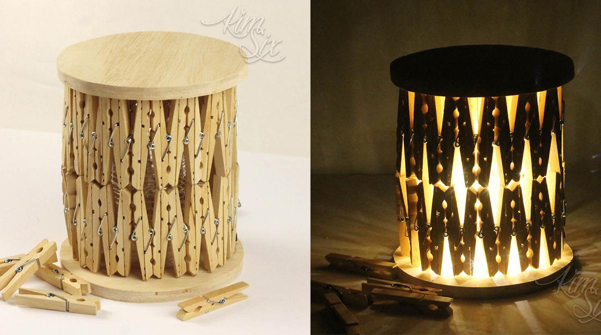 Clothespin lanterns