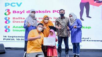 Launching Imunisasi PVC di Mall Karawang Central Plaza KCP