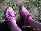 I hadn't worn these sneakers since the Color Run, so they were still a little pink!