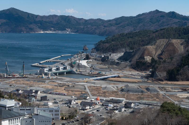 190324 城山から見た大槌市街地