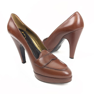 Prada Brown Leather LoaferPumps