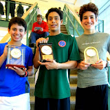BU 15 winner Ian Blatchford, finalist Ben Korn, and 3rd place finisher William Glaser