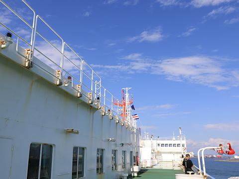 商船三井フェリー「さんふらわあ ふらの」 苫小牧港へ向けて その3