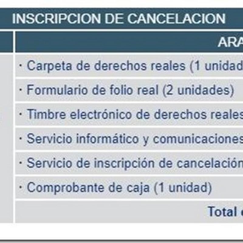 """Bolivia: Requisitos y costos para realizar """"Inscripción de Cancelación"""" en Derechos Reales"""