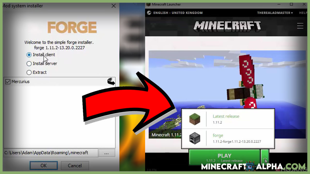 How to install minecraft forge for mods? (Illustrations)