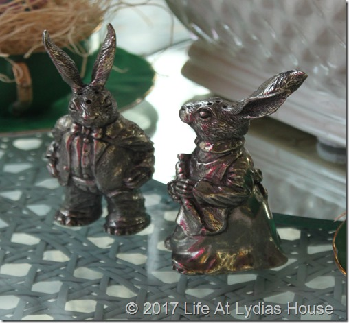 pewter rabbits
