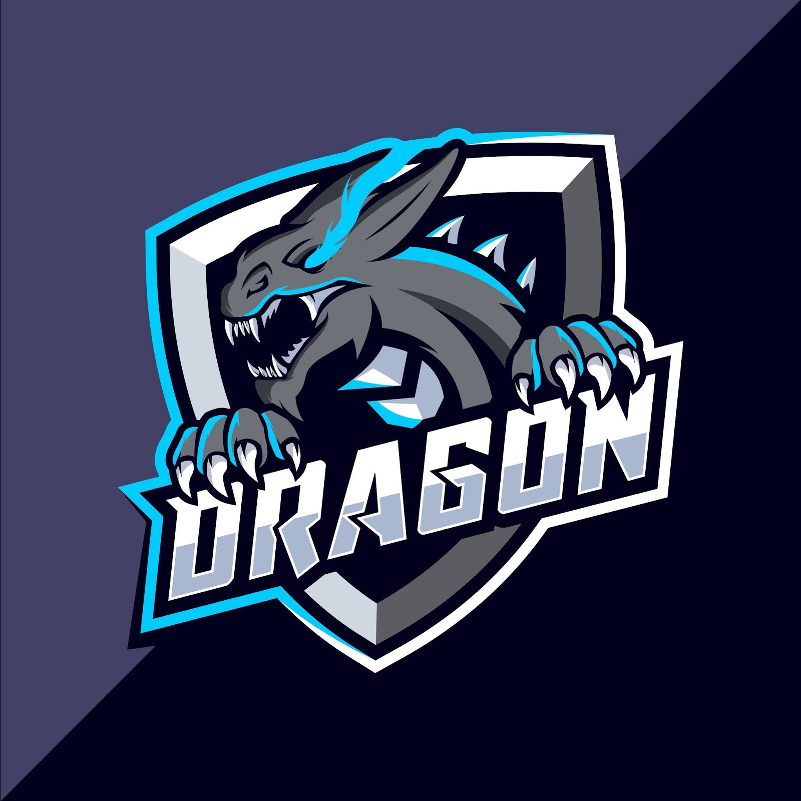 Dragon Mascot Esport Logo Design Free Download Vector CDR, AI, EPS and PNG Formats