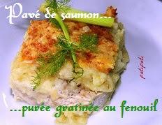 recette du pavé de saumon et purée gratinée au fenouil