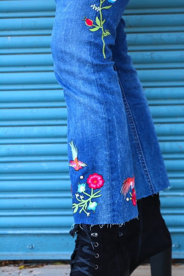 Embroidered Zara Jeans 5