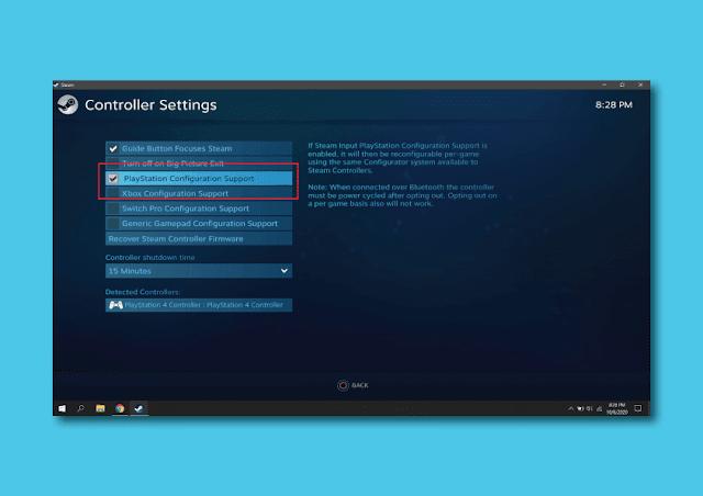 Cara Menghubungkan Joystick Dualshock PS4 ke PC