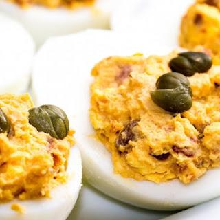 Caribbean Deviled Eggs.