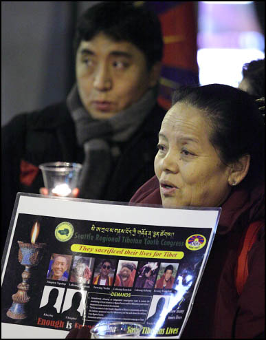 Self-Immolations in Tibet: Candle Vigil in Downtown Seattle - IMG_0060%2B1-28-12%2B72Bc%2BCandle%2BVigil.jpg